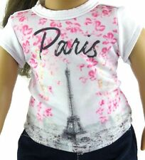 Spring Time in Paris Shirt Doll Clothes Fits 18 Inch American Girl