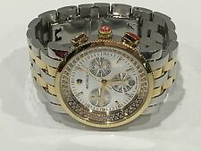 MICHELE SPORT SAIL MIRROR HIGH SHINE DIAMOND TWO-TONE WATCH MW01C01J3982 $2,145+