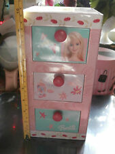 "Barbie Tin Box Metal Dresser Style Storage 10"" x 5"" x 5"""