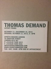 THOMAS DEMAND.Private view invitation / Folded poster,Spruth Magers gallery 2015
