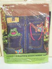 Coats & Clark #5824 Crewel Creative Stitchery Pillow Kit JEANS New