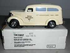 RUSH NY FIRE DEPT 75TH ANNIV 1938 CHEV PANEL TRUCK 1994 DIECAST ERTL BANK #B972