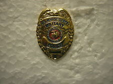 MARINE HAT PIN - MINIATURE U. S. MARINE MILITARY POLICE SHIELD