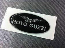 Adesivo MOTO GUZZI BLACK & SILVER 6 cm 3D resinato