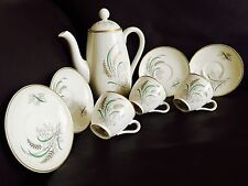 "Antique (1930s) Copeland Spode ""Oklahoma"" Harold Holdway Porcelain Coffee Set"