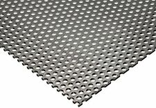 "Online Metal Supply 304 Stainless Steel Perforated Sheet .035"" 20 ga. x 8"" x 12"""