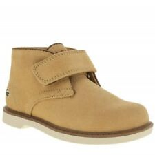 Lacoste boys SHERBROOKE tan high tops Euro size 20 (UK Infant size 4)