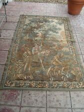 Large Vintage French Beautiful Hunting Scene Tapestry wall filling medieval 6.6f
