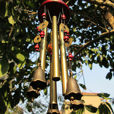Antique Amazing Deep Relaxing 4 Tubes Chapel Bells Wind Chimes Yard Decor