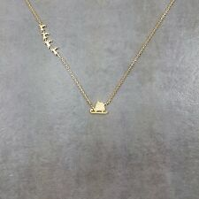 Santa's Sleigh Gold Plated Necklace Gift Box Presents Christmas Eve Reindeer