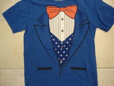 Uncle Sam American Patriot Stars and Stripes Suit 4th of July tuxedo T Shirt S