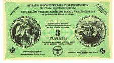 Germany Ostland Lithuania - 3 Punkt 1943/44 WWII