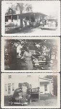 Lot of 3 Vintage Car Photos Family to Florida in 1946 1947 1948 Plymouth 736357