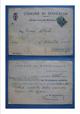 ANCONA COMUNE DI SENIGALLIA denuncia danni di guerra CECCONI - 1947 c.