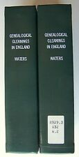 GENEALOGICAL GLEANINGS IN ENGLAND Henry F. Waters HC 1969  ILLUS  Vol I & II - Y