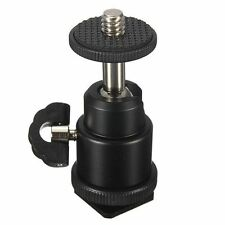 1/4 Inch Black Ball Head Bracket/Holder/Mount For Camera Tripod Hot Shoe Adapter
