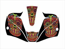 LINCOLN VIKING 2450 3350 WELDING HELMET WRAP DECAL STICKER colored sugar skull