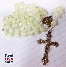 """Fatima Rosary """"GLOW IN THE DARK"""" LUMINOUS - handmade in Fatima"""