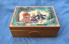 "RARE Little Grey Rabbit ""Friends"" Musical Jewelry Box, 1980 ""Music Box Dancer"""