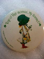 NJ- top o' the morin', my friend! (AMERICAN GREETINGS)   PIN BADGE #23043