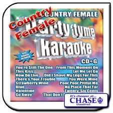 PARTY TYME KARAOKE CD CDG CD+G DISC BACKING TRACKS SONG COUNTRY FEMALE HITS