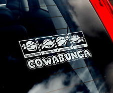 COWABUNGA! - Car Window Sticker - Teenage Mutant Ninja Turtles Hero Gift TMNT