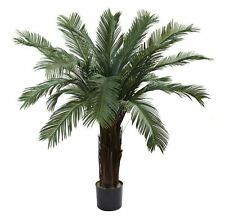 4 ft. Cycas Palm Pool Patio Home Office Shade Tree UV Resistant (Indoor/Outdoor)