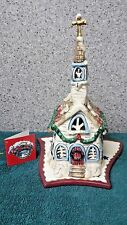 White Church Candle House t-lite holder by Heather Goldminc for Blue Sky Claywor