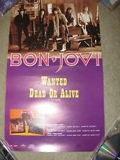"""Bon Jovi Wanted Dead or Alive, Orig 1986 Canadian Promo Poster for 7"""" NM cond."""