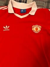 Adidas Originals Manchester United 1980 Retro Soccer Football Jersey XL