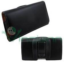 Custodia eco pelle nera CLIP CINTURA per Samsung Galaxy S3 mini i8190 nuova CCN