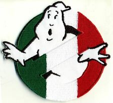 Italy, Italian Flag Style Embroidered Ghostbusters No Ghost Patch