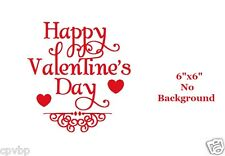 Happy Valentine's Day Decal Sticker for Glass Block DIY Crafts