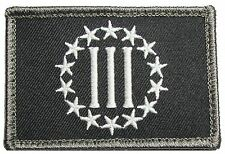 3 % III PERCENT DEFEND LIBERTY NRA USA VELCRO® BRAND FASTENER SWAT  PATCH