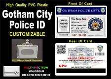 BATMAN GOTHAM CITY POLICE ID Badge / Card Prop   CUSTOM WITH YOUR INFO & PHOTO