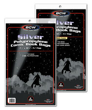 (200) Comic Book Boards & (100) Protective Bags BCW Silver-Age Sleeves