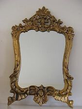 Small Gold Colour Metal Wall Hanging Mirror Modern