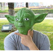 Force Master Yoda Head Mask Adult Animal Comedy Costume Halloween Theater Prop