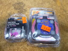 Middy hollow Pole Elastic 3m 10-14 PINK  and new pink connectors