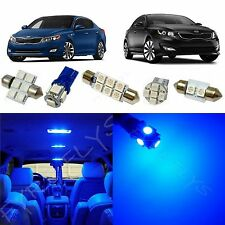 9x Blue LED lights interior package kit for 2011-2016 Kia Optima KO1B