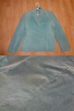 Womens L Relativity Blazer Jacket Button Up Light Blue