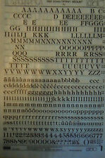 LETRASET Rub On Transfers TIFFANY MEDIUM 36pt (9mm) #LG1610 used