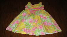 LILLY PULITZER GIRLS 2T ELEPHANT FLORAL DRESS SISTERS TWINS TRIPLETS