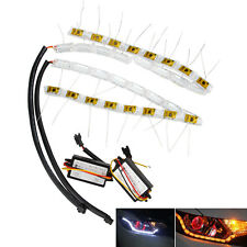 2x Switchback LED Strip Lights with Sequential Signal For Headlight Retrofit