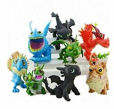 How to Train Your Dragon 2 8 pcs Figures Set: Toothless Night Fury Nadder & More