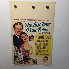 THE LAST TIME I SAW PARIS MOVIE POSTER(1954)