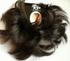 Hair Scrunchie for bun or ponytail Dark Brown hair Piece Bun scrunchie
