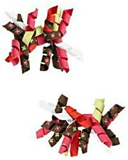 NWT Gymboree Fall Homecoming Curly Hair Clips Flower Green Brown Pink Orange NEW