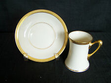Lenox J-30 Demitasse Cup & Saucer-Green Back Stamp