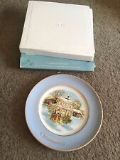 Avon collector plate Christmas 1977 Carollers in the Snow Enoch Wedgewood
